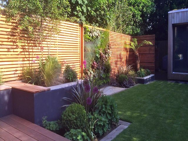 Garden Fencing using fencing panels in Edinburgh