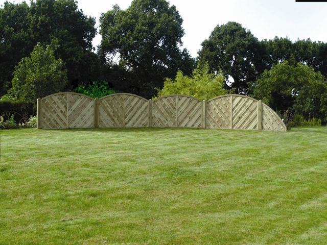 Morningside fencing Scalloped Fencing Panels
