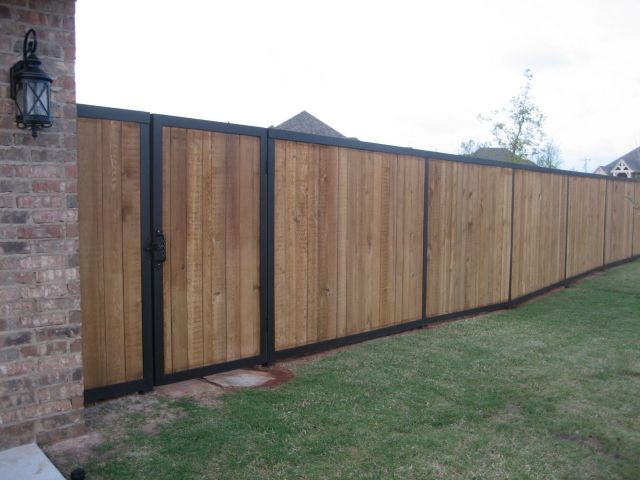 Corstorphine Fencing Wood and Steel mix fencing